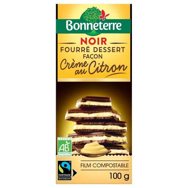 Bonneterre - Tablette chocolat Noir fourré Crème au citron 100g