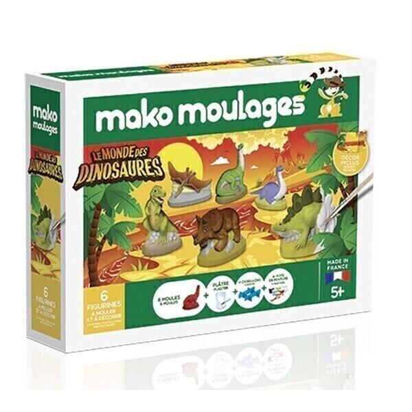 Mako moulages - Coffret 6 moules - Le monde des dinosaures -Des 5ans