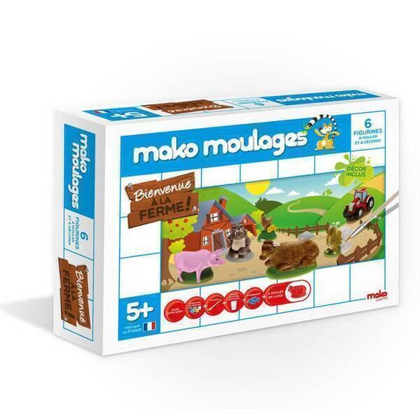 Mako moulages - Coffret 6 moules - Bienvenue a la Ferme -Des 5ans