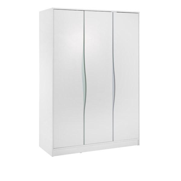 Armoire 3 portes wave etag re haute wave blanche pastelle geuther la r f rence - Armoire 3 portes blanche ...