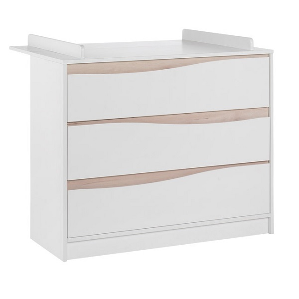 Commode avec plan langer wave blanc naturel geuther - Plan a langer adaptable toute commode ...