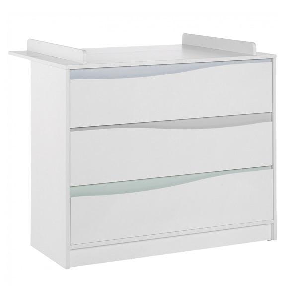 Geuther - Commode avec plan à langer Wave blanc pastel