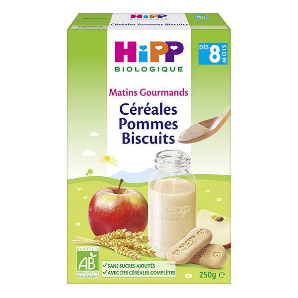 HiPP - Céréales pommes biscuits dès 8 mois x 250g