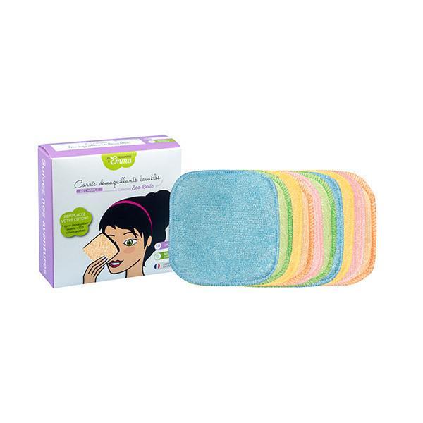Les Tendances d'Emma - 10 carrés démaquillants lavables en viscose de bambou couleur