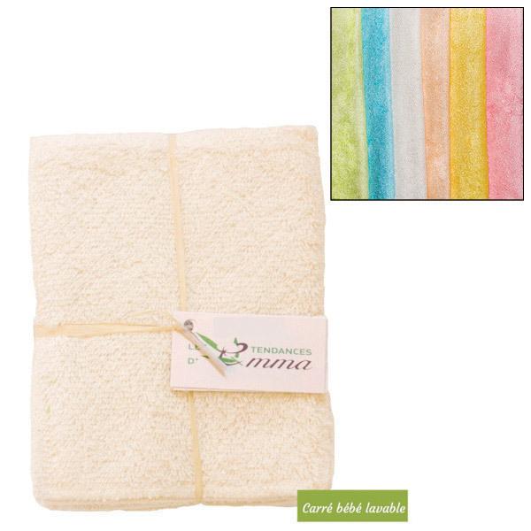Les Tendances d'Emma - 5 carrés bébé lavables Bambou couleur