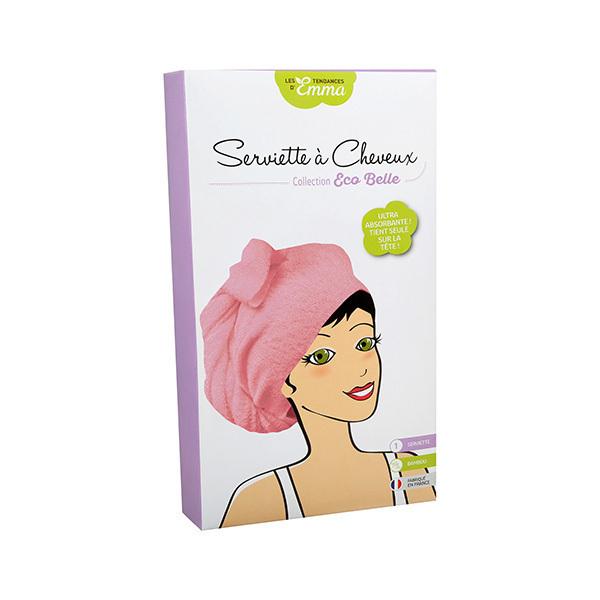 Les Tendances d'Emma - Serviette à cheveux rose