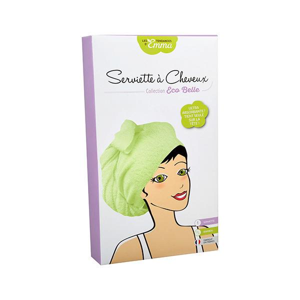 Les Tendances d'Emma - Serviette à cheveux vert