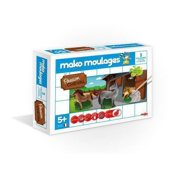 Mako moulages - Coffret 3 moules - Passion cheval -Dès 5ans
