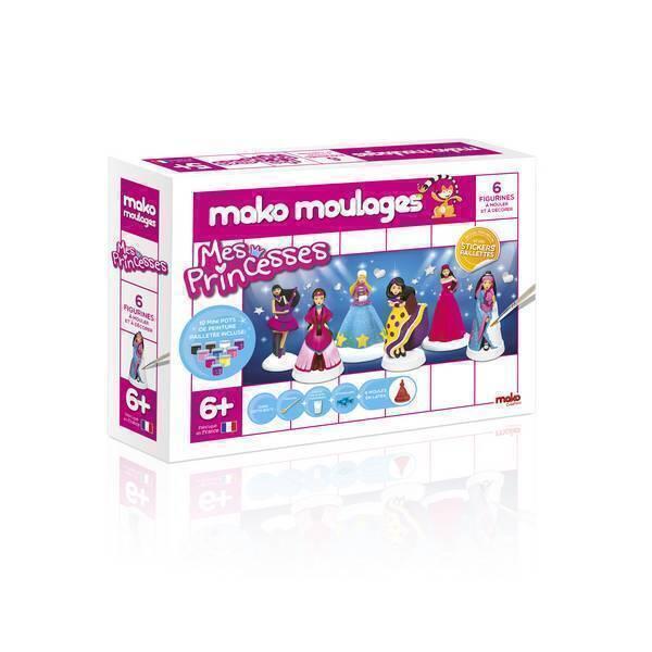 Mako moulages - Coffret 6 moules - Mes princesses -Dès 5ans