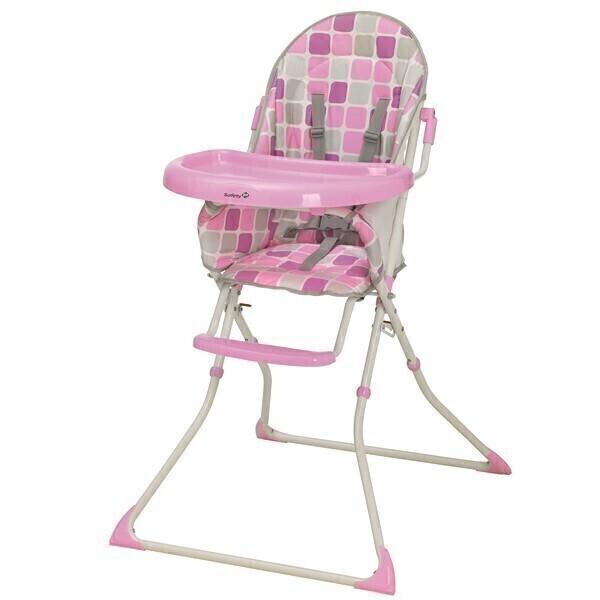 Safety 1St - Chaise haute kanji rose