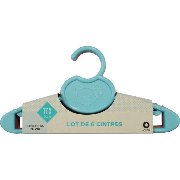 Tex Baby - 6 cintres - Coloris assortis