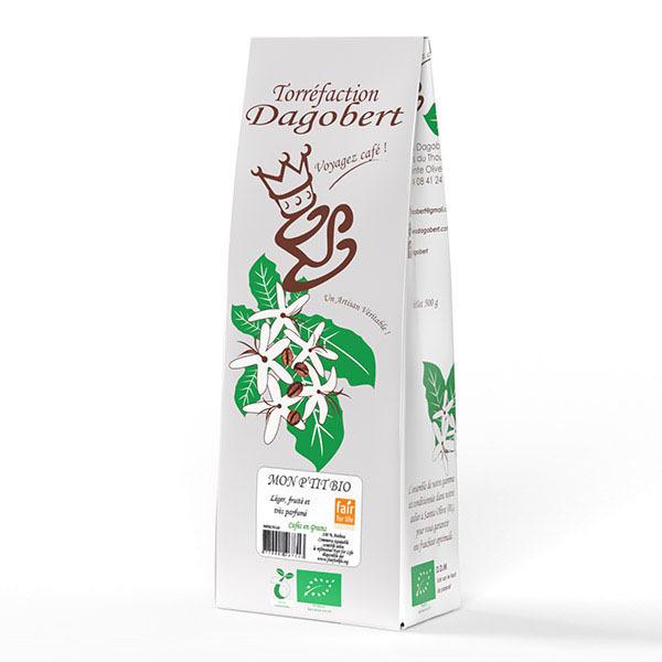 Les cafés Dagobert - Mélange mon p'tit bio fair for life en grains - 500g