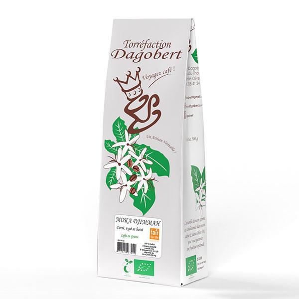 Les cafés Dagobert - Moka Djimmah Bio équitable grains - 500g