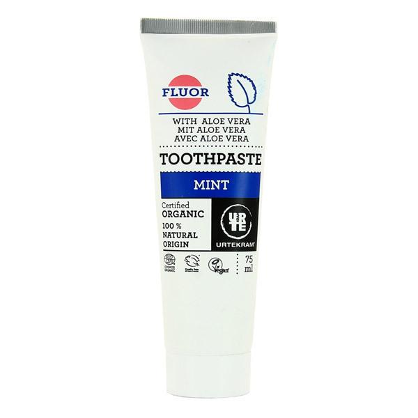 Urtekram - Dentifrice avec fluor à la menthe - 75 mL