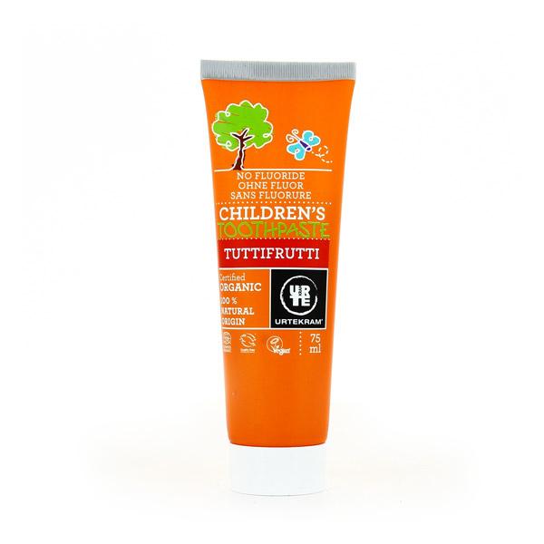 Urtekram - Dentifrice enfants sans fluor Tuttifrutti - 75 mL