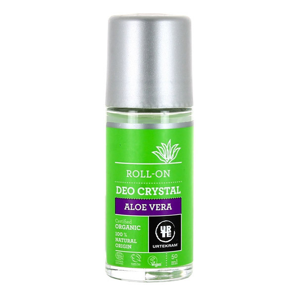 Urtekram - Déodorant crystal roll-on à l'aloe vera - 50 mL