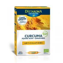 Dietaroma - Curcuma, Poivre noir, Gingembre extra fort bio - 20 ampoules