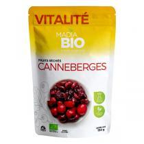 Madia Bio - Canneberges entières infusée au jus de pomme bio 150gr