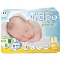 Tidoo - 34 Couches Ecologiques Newborn T1-XS - 2-5kg
