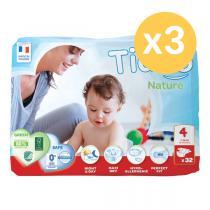 Tidoo - Lot 3 paquets 32 Couches écologiques - L T4 7-18kg