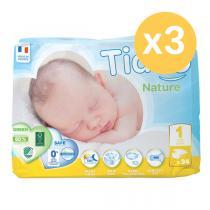 Tidoo - Lot 3 paquets 34 Couches écologiques Newborn T1 2-5kg