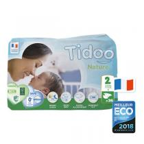 Tidoo - Pack 4x36 Couches Ecologiques T2-S - 3-6kg