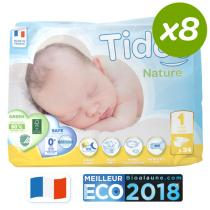 Tidoo - Pack 8x34 Couches Eco Newborn T1 2-5kg