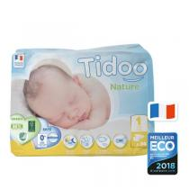 Tidoo - Pack 8x34 Couches Ecologiques Newborn T1-XS - 2-5kg