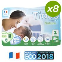 Tidoo - Pack 8x36 Couches Eco S T2 3-6kg
