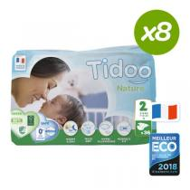 Tidoo - Pack 8x36 Couches Ecologiques T2-S - 3-6kg