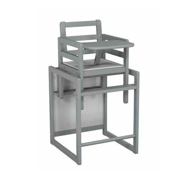 chaise haute cube anthracite at4 la r f rence bien tre bio b b. Black Bedroom Furniture Sets. Home Design Ideas