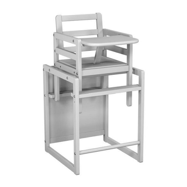 chaise haute cube blanc at4 la r f rence bien tre bio b b. Black Bedroom Furniture Sets. Home Design Ideas
