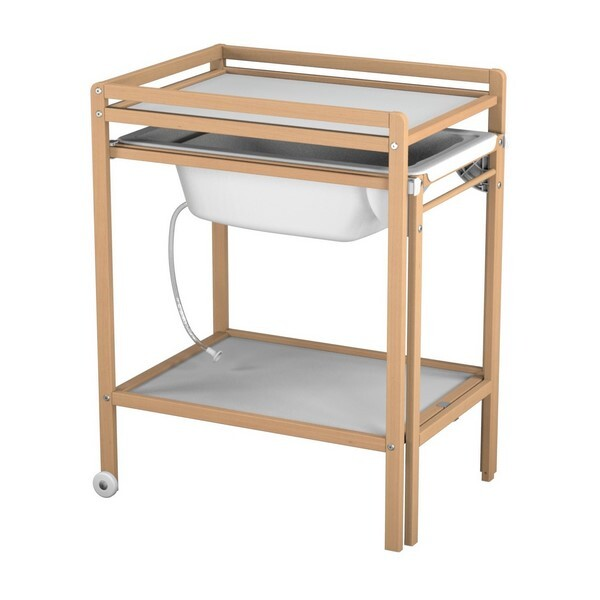 AT4 - Table à langer + baignoire - Naturel