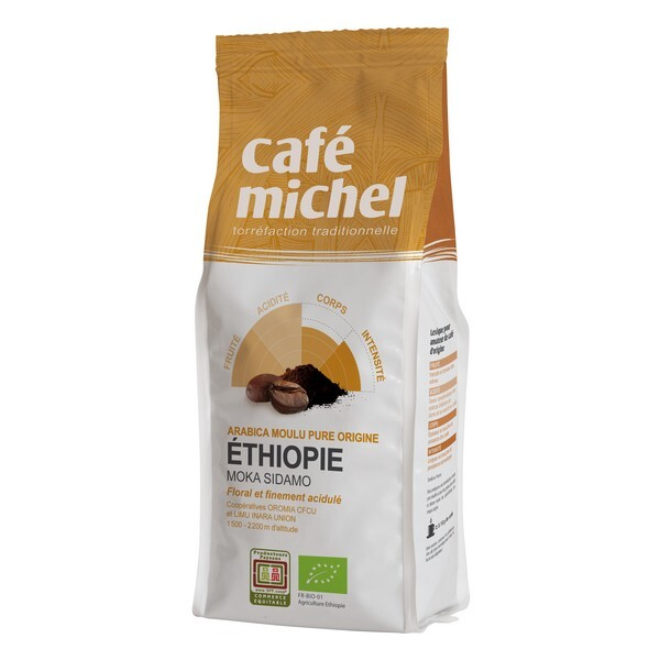 Café Michel - Café moulu Moka Sidamo d'Ethiopie 250g