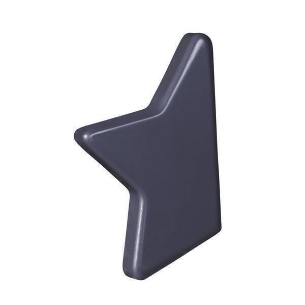 Sauthon - Bouton étoile Nova - Gris titane