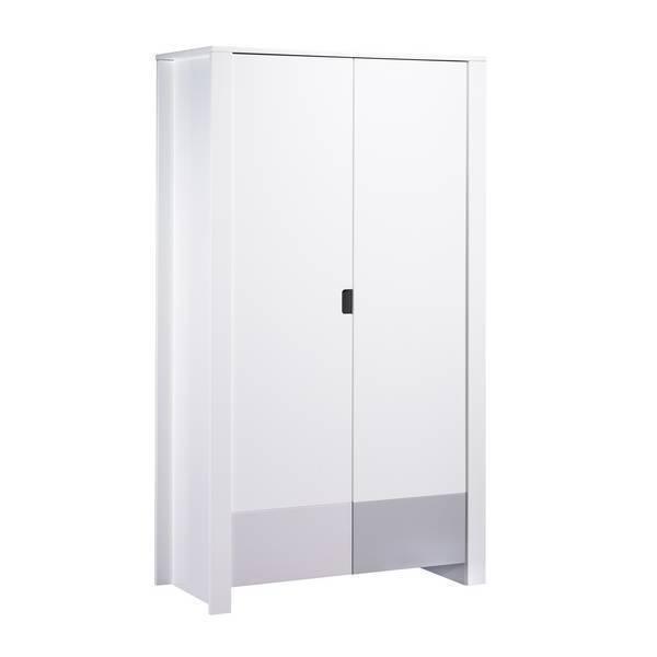 armoire city grise 2 portes sauthon la. Black Bedroom Furniture Sets. Home Design Ideas