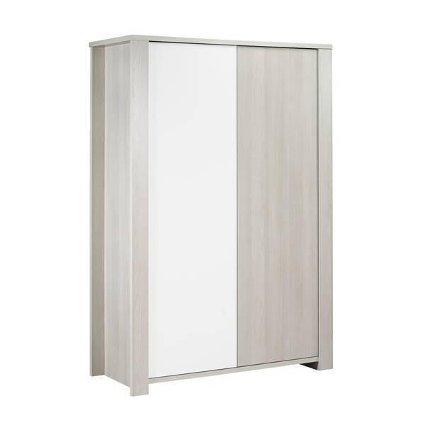 armoire opale sans motif 2 portes sauthon la r f rence bien tre bio b b. Black Bedroom Furniture Sets. Home Design Ideas