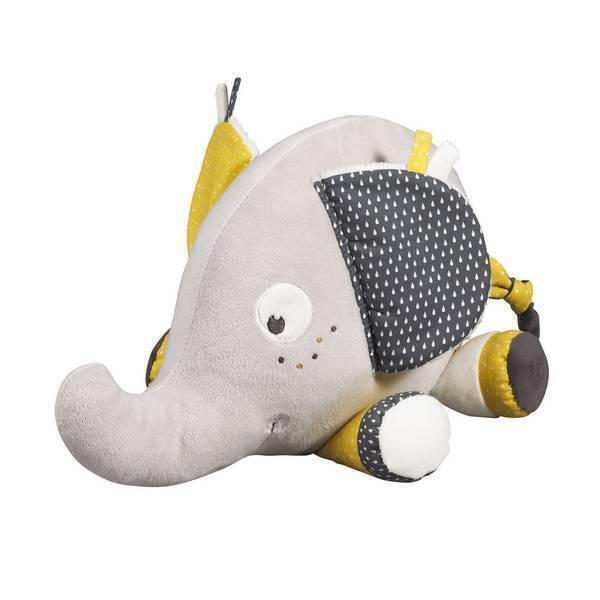 Sauthon - Doudou éléphant Grand modèle Babyfan
