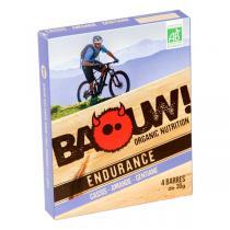 Baouw! Organic Nutrition - Barres bio Cassis - Amande - Gentiane - 4 barres de 30 g
