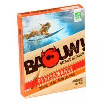 Baouw! Organic Nutrition - Barres bio Orange - Cajou - Reine des prés - 4 barres de 30 g