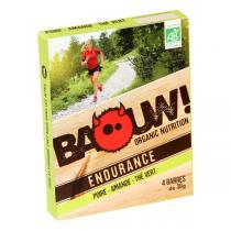 Baouw! Organic Nutrition - Barres bio Poire - Amande - Thé vert - 4 barres de 30 g