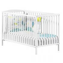 Baby Price - Lit bébé à barreaux 60x120cm blanc Basic