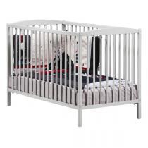 Baby Price - Lit bébé à barreaux 60x120cm gris Basic