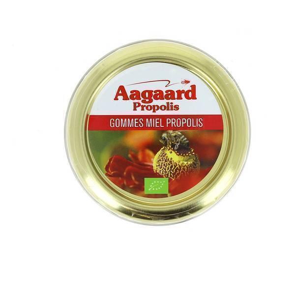 Aagaard Propolis - Gommes miel propolis bio - 45 g