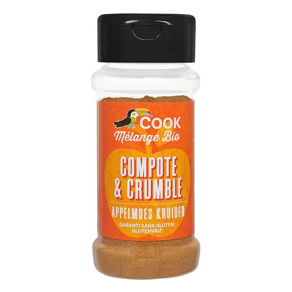 Cook - Mélange bio compote et crumble 35g