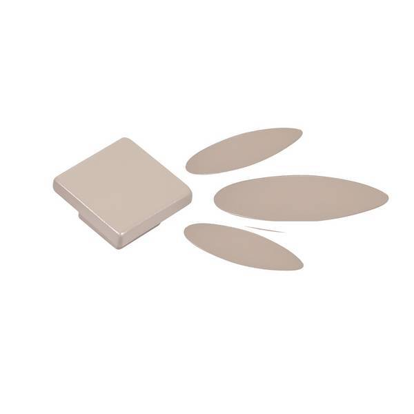 Domiva - Kit pétales + boutons Taupe pour commode Palma