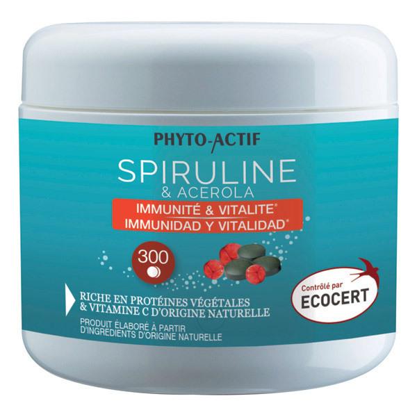 Phyto-Actif - Spiruline & Acérola - Format Economique 300 Comprimés
