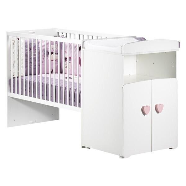 Baby Price - Lit bébé combiné évolutif 60x120cm Basic - Coeur