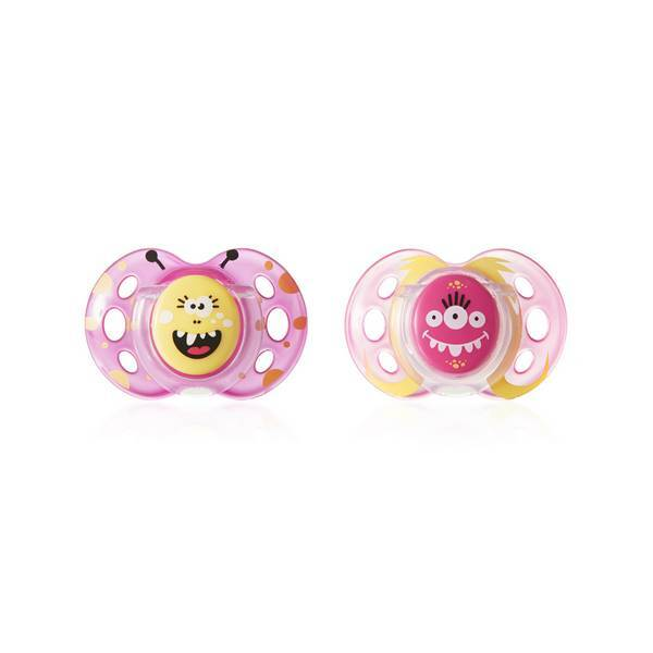 Tommee Tippee - Lot 2 sucettes Fun 18mois+ Rose/Fuchsia