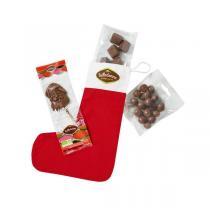 Belledonne - Chaussette de Noël - Assortiment de chocolats bio - 135 g